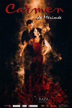 Cartel del espectáculo de danza española Carmen de Mérimée